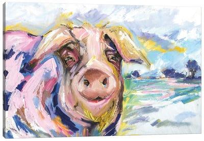 Pig Called Double Dutch Canvas Art Print