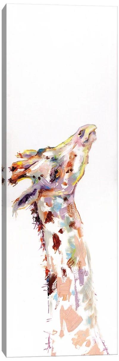 Painting Of A Giraffe Canvas Art Print