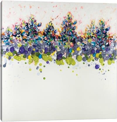 Contemporary Texas Blue Bonnets Canvas Art Print