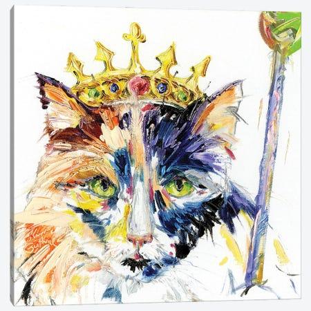 Cat Royalty Oil Canvas Print #KGU61} by Kim Guthrie Canvas Artwork