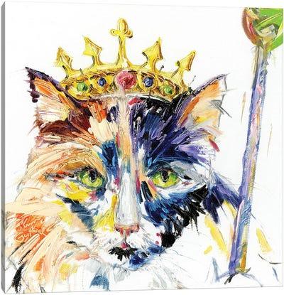 Cat Royalty Oil Canvas Art Print