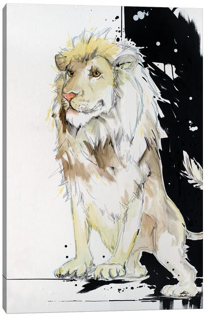 King Of This Shindig Lion Canvas Art Print