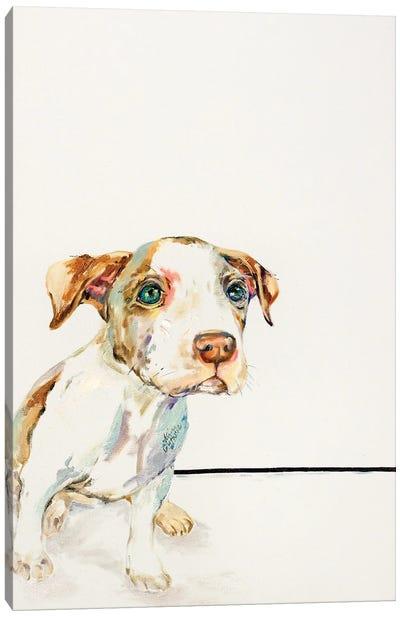 Petey Rescue Dog Canvas Art Print