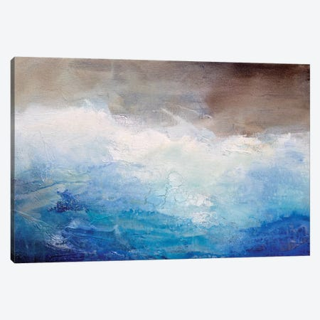 Ombre Blue Canvas Print #KHA6} by Karen Hale Canvas Artwork