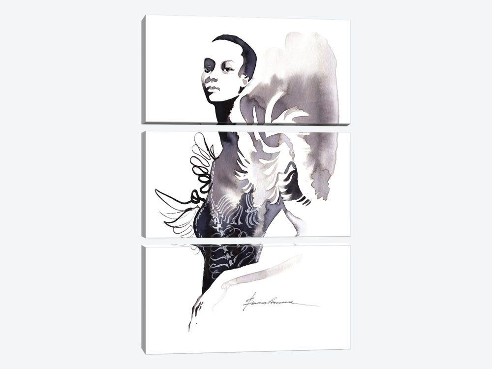 Iris Van Herpen by Khrystyna Barabanova 3-piece Canvas Art