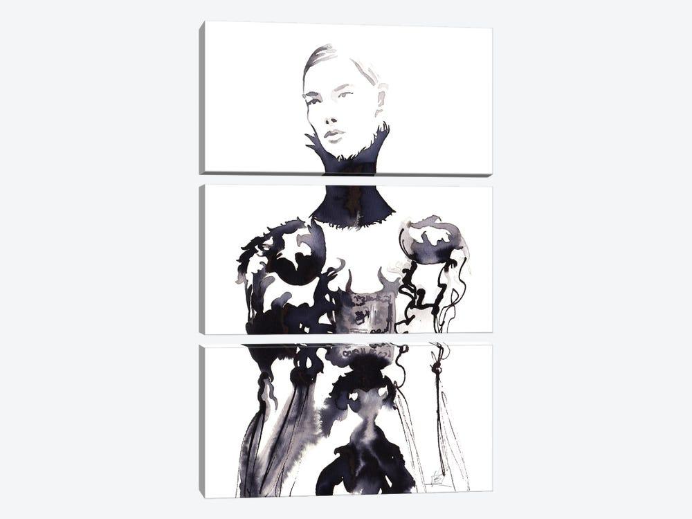 Alexander Mcqueen Runway by Khrystyna Barabanova 3-piece Canvas Art Print