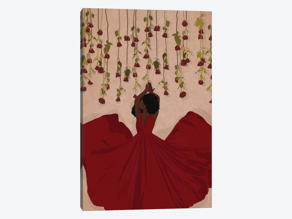Roses Are Red by Khia A. 1-piece Canvas Wall Art