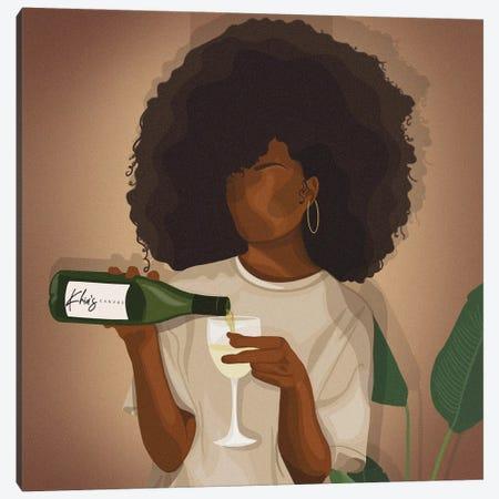 Wine Down Canvas Print #KHI49} by Khia A. Canvas Wall Art