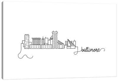 Baltimore Skyline Canvas Art Print