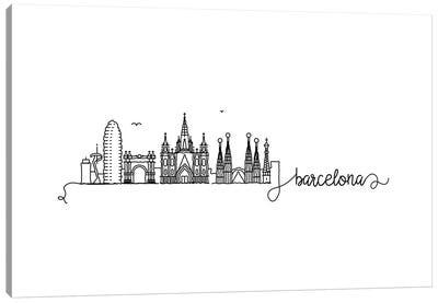 Barcelona Skyline Canvas Art Print