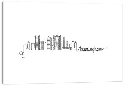 Birmingham Skyline Canvas Art Print