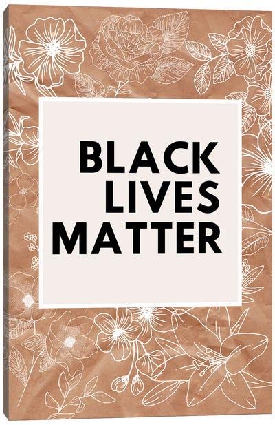 Black Lives Matter Coral Canvas Art Print