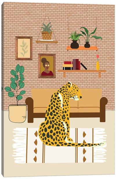 Bohemian Home Interior Leopard Canvas Art Print