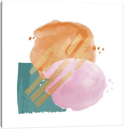 Abstract Watercolor Strokes Canvas Art Print