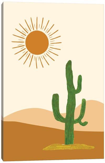 Desert Cactus Scenery Canvas Art Print