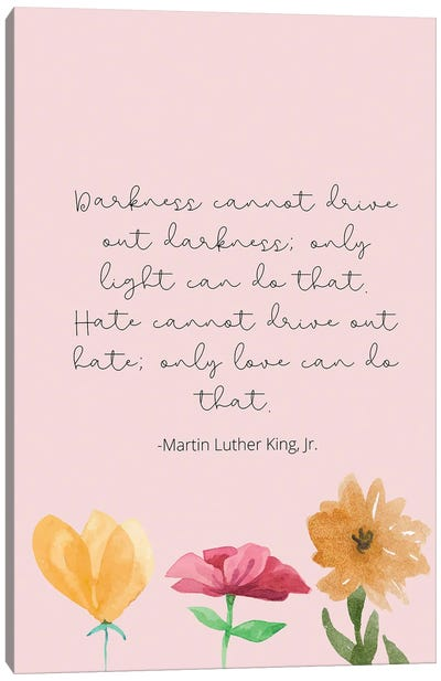 Martin Luther King Jr. Quote Canvas Art Print