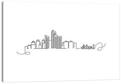 Detroit Skyline Canvas Art Print