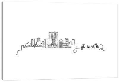 Fort Worth Skyline Canvas Art Print