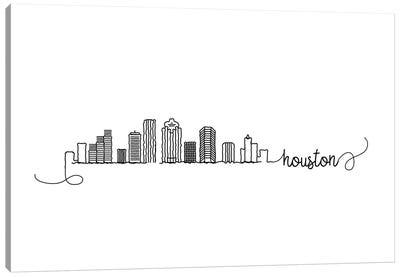 Houston Skyline Canvas Art Print