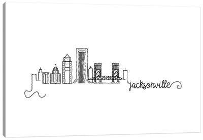 Jacksonville Skyline Canvas Art Print