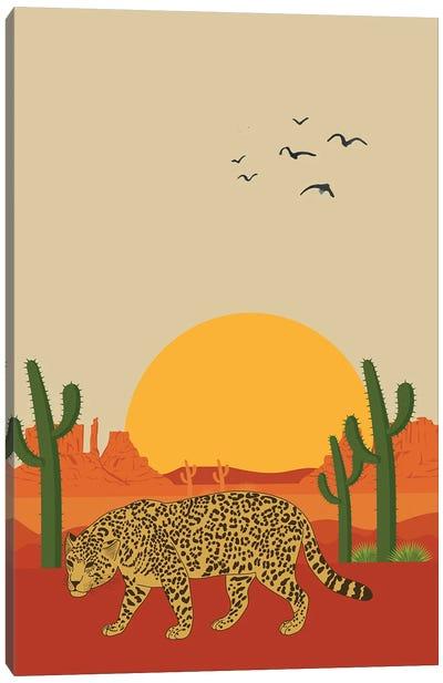 Cheetah In The Sahara Desert Canvas Art Print