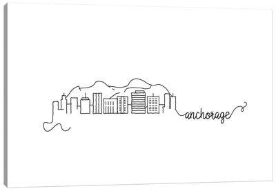 Anchorage Skyline Canvas Art Print