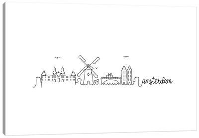Amsterdam Skyline Canvas Art Print