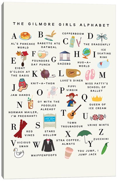 Gilmore Girls Alphabet Canvas Art Print