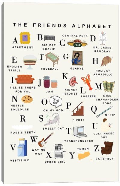 Friends Alphabet Canvas Art Print