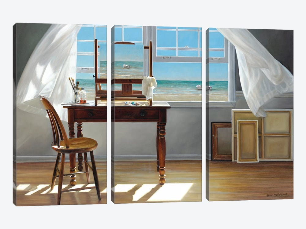 In Progress by Karen Hollingsworth 3-piece Canvas Print
