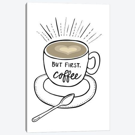 Coffee Canvas Print #KHP1} by Kiana Hipolito Canvas Art Print