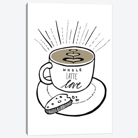 Latte Canvas Print #KHP3} by Kiana Hipolito Art Print