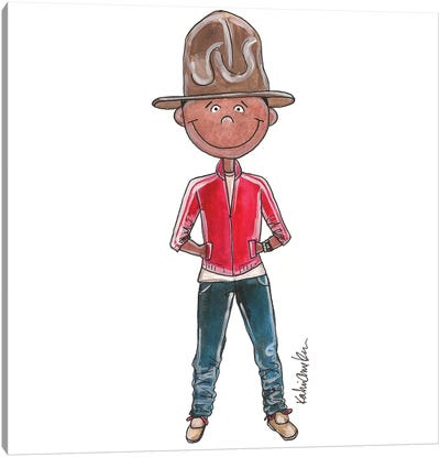 Pharrell Williams (2014 Grammy Awards) Canvas Art Print