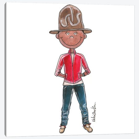 Pharrell Williams (2014 Grammy Awards) Canvas Print #KHR105} by Kahri Canvas Art Print