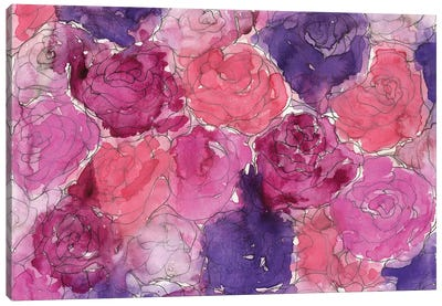 Pink Roses Canvas Art Print