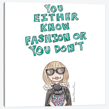 Anna Wintour Quote Canvas Print #KHR10} by Kahri Canvas Wall Art