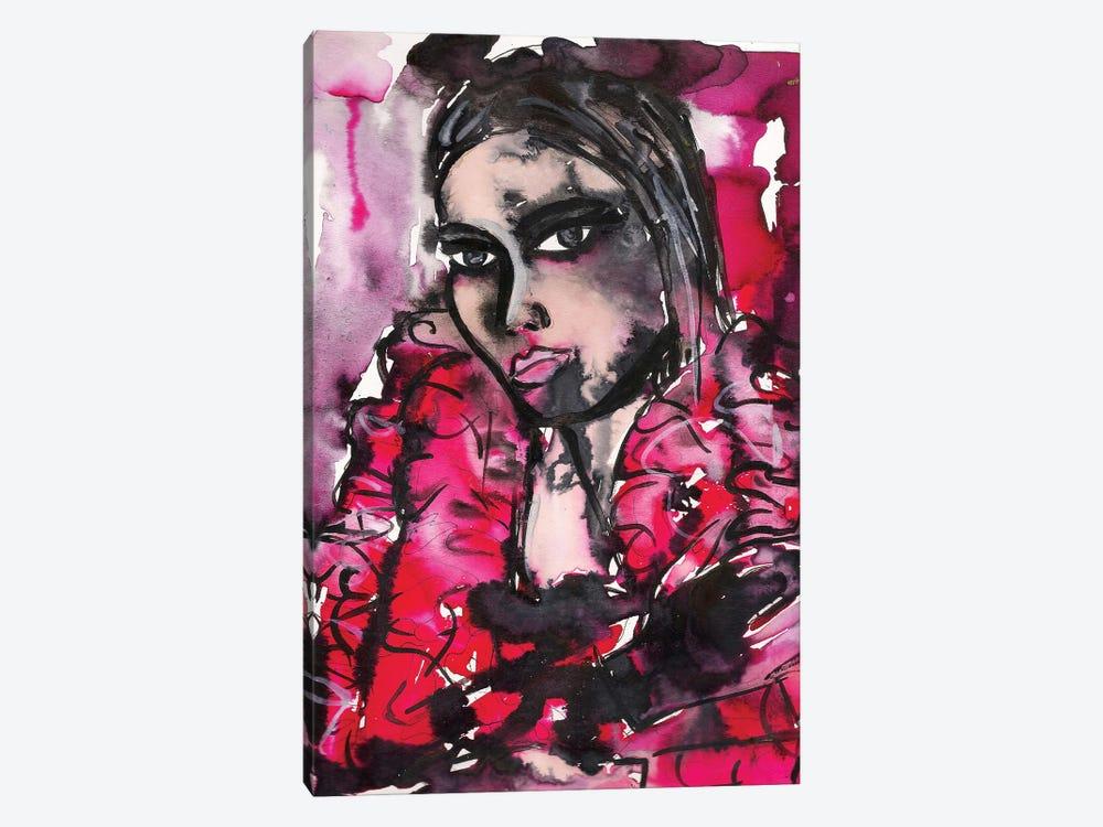 Red Girl by Kahri 1-piece Canvas Print