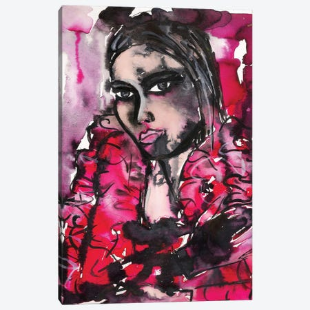 Red Girl Canvas Print #KHR113} by Kahri Canvas Art Print