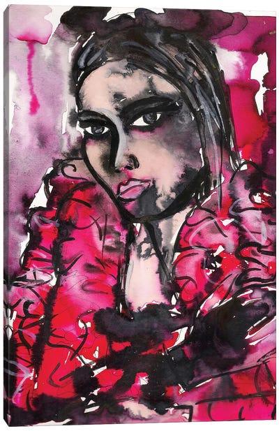 Red Girl Canvas Art Print