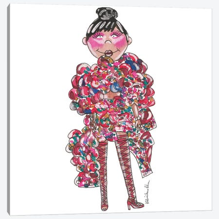 Rihanna, 2017 Met Gala Canvas Print #KHR115} by Kahri Canvas Art