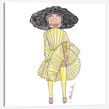 Solange Knowles, 2016 Met Gala Canvas Print #KHR121} by Kahri Canvas Wall Art