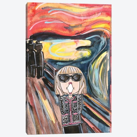 Anna's Scream (Homage To Edvard Munch) Canvas Print #KHR125} by Kahri Art Print