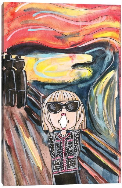 Anna's Scream (Homage To Edvard Munch) Canvas Art Print