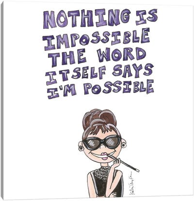 Audrey Hepburn Quote Canvas Art Print