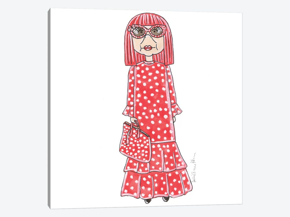 Yayoi Kusama by Kahri 1-piece Canvas Art Print
