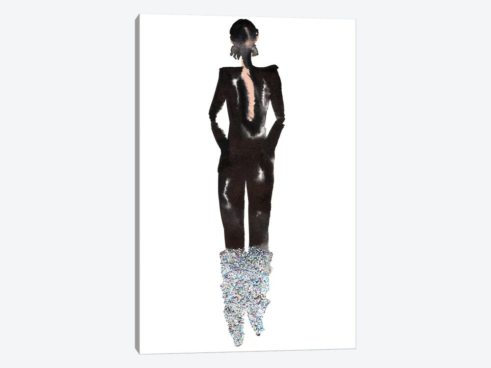 Glitter Boots, Yves Saint Laurent (YSL) Fall '17 by Kahri 1-piece Canvas Art