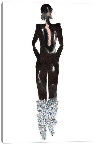 Glitter Boots, Yves Saint Laurent (YSL) Fall '17 Canvas Art Print
