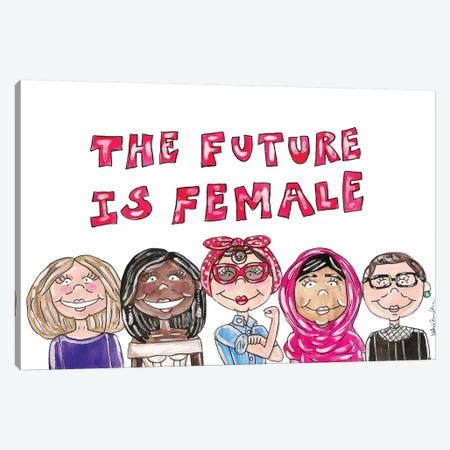 Future Is Female Canvas Print #KHR141} by Kahri Canvas Artwork