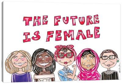 Future Is Female Canvas Art Print