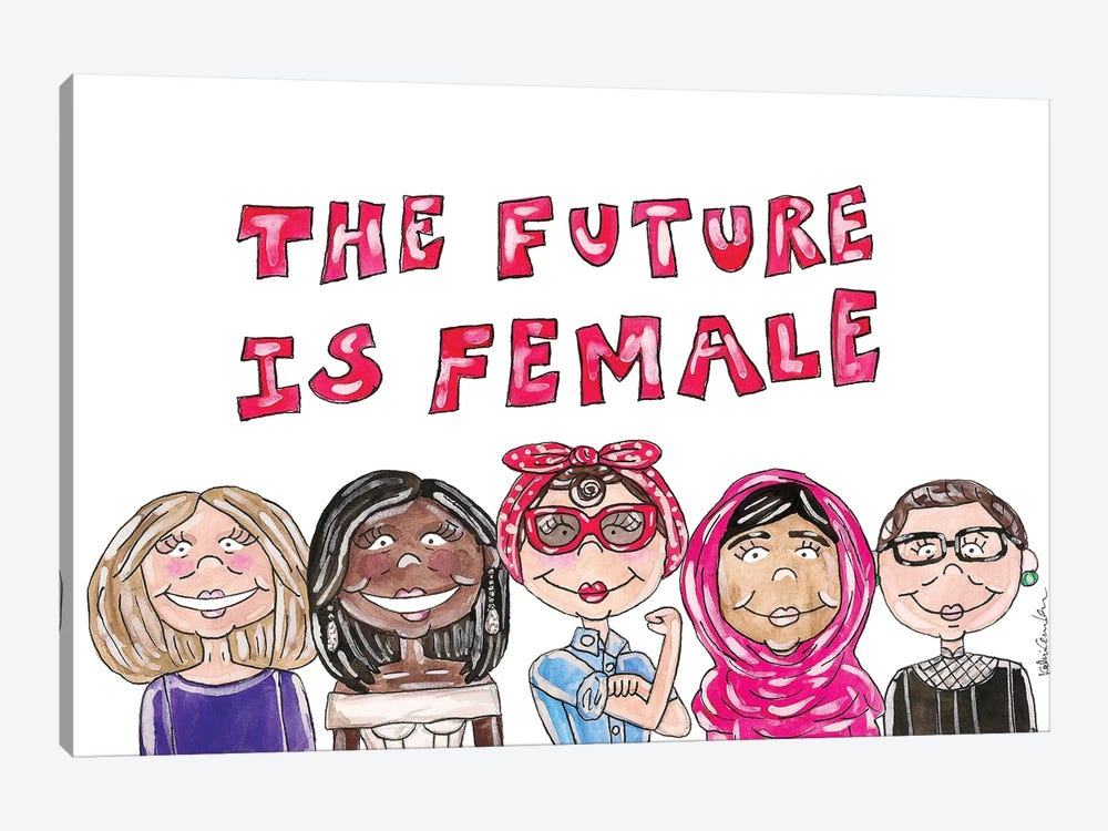 Future Is Female by Kahri 1-piece Canvas Artwork